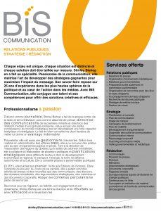 Document de présentation BIS Communication