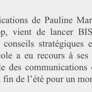 Le Courrier parlementaire parle de BIS Communication!